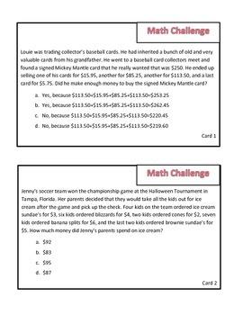 Math Game Test Review: Survivor Theme