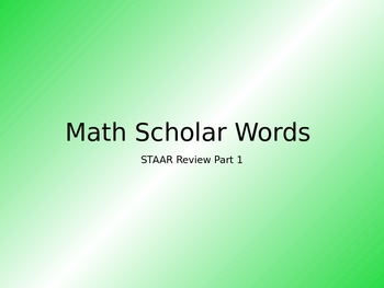 STAAR Math Vocabulary