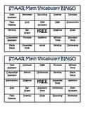 STAAR Math Vocabulary BINGO 3rd Grade Card Set 1 (3-5)