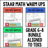 TEKS Math Warm Ups 6th-8th Grade Bundle