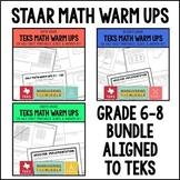 TEKS Math Warm Ups 6th-8th Grade Bundle