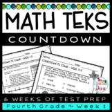 4th Grade Math TEKS Countdown - Week 1