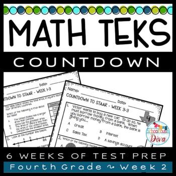 4th Grade Math TEKS Countdown - Week 2