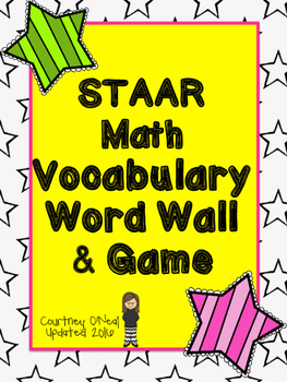 Updated STAAR Math Word Wall or Vocabulary Hot Seat Game (