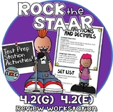 STAAR Test Prep Work Station Review Activity TEKS 4.2G and 4.2E