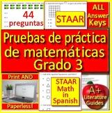 3rd Grade STAAR Math in Spanish: Pruebas de práctica de matemáticas Grado 3