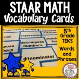 STAAR Mathematics Vocabulary 5th Grade