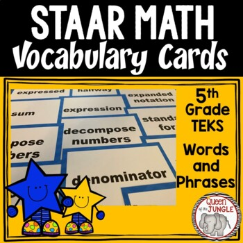 STAAR Mathematics Vocabulary 5th Grade