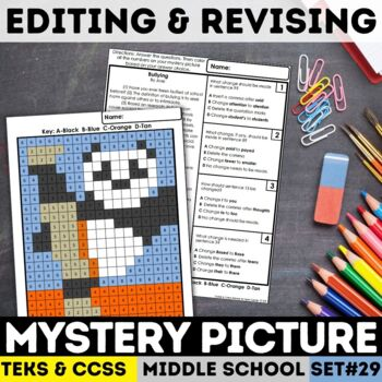 STAAR Writing Mystery Picture - Editing & Revising