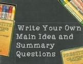 STAAR Mrs. Miller's Marvelous Main Idea Worksheets