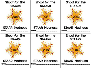 STAAR Name Tags for Boot Camps