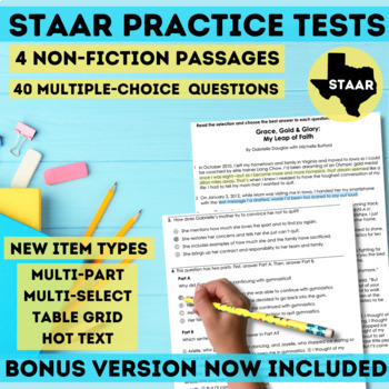STAAR Non-Fiction Reading Passages Grade 3-5