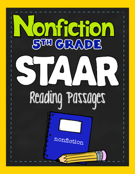 STAAR Nonfiction Passages- Fifth Grade