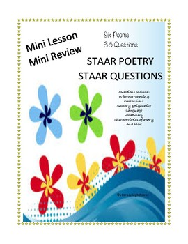 Understanding staar questions teaching resources teachers pay teachers staar poetry mini review 6 poems 36 staar questions fandeluxe Choice Image