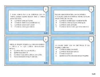 Spanish Editing Task Cards / Tarjetas de Edición