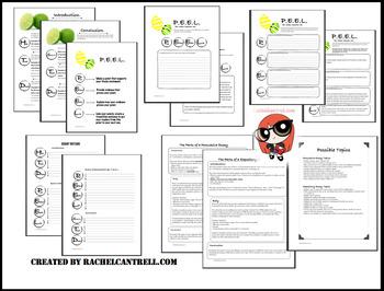 PEEL Essay Kit Graphic Organizer Outline STAAR