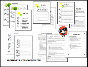 PEEL Essay Kit Graphic Organizer Outline STAAR