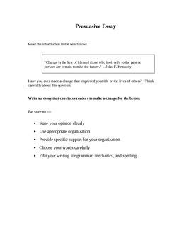 STAAR Persuasive Prompts Set 2
