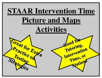 STAAR Pictures and Maps Practice and Intervention Activity