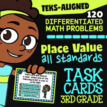 STAAR Place Value ★ 3.2A-3.2D ★ TEK-Aligned Math ★ 3rd Grade STAAR Math Practice