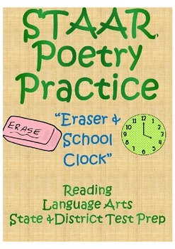 "STAAR Poetry Practice- ""Eraser & School Clock"" by ..."