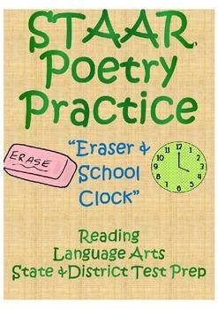 """STAAR Poetry Practice- """"Eraser & School Clock"""""""