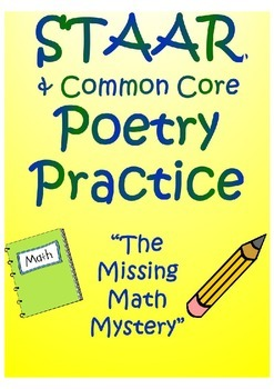 "STAAR Poetry Practice- ""Missing Math Mystery"""
