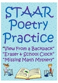 STAAR Poetry Practice- Reading Passages & Questions