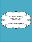 STAAR Poetry Vocabulary - Dominoes Puzzle