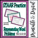 STAAR Practice 3.5A and 3.5B: Representations with Equations & Strip Diagrams