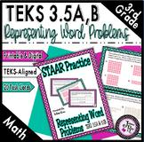 TEKS 3.5A, 3.5B / STAAR Practice: Representations w/ Equations & Strip Diagrams
