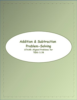 3rd STAAR Grade Addition & Subtraction TEKS 3.3B (New TEKS 3.4A)
