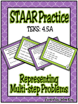 STAAR Practice 4.5A: Representations with Strip Diagrams and Equations