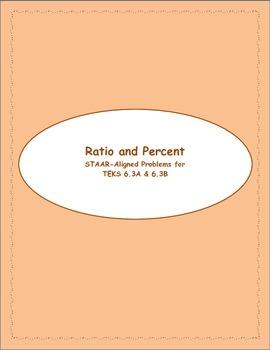 6th STAAR Ratio & Percent TEKS 6.3A & 6.3B (New TEKS 6.4E & 6.4F)