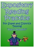 STAAR Expository Reading Practice- Harry Houdini Passage &