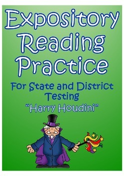 STAAR Expository Reading Practice- Harry Houdini Passage &