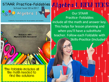 STAAR Practice-Foldable and Skills Algebra I, Category 1, TEKS A.10(A)
