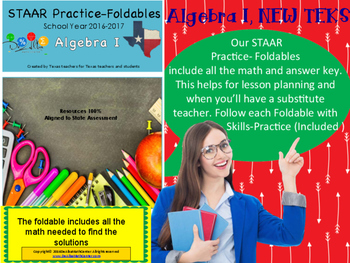 STAAR Practice-Foldable and Skills Algebra I, Category 3, TEKS A.2(B)