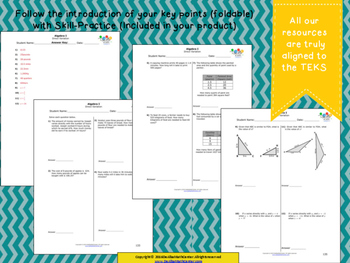 STAAR Practice-Foldable and Skills Algebra I, Category 3, TEKS A.2(D)