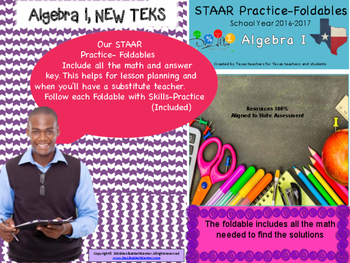 STAAR Practice-Foldable and Skills Algebra I, Category 3, TEKS A.2(E) & A.2(F)