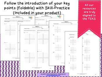 STAAR Practice-Foldable and Skills Algebra I, Category 3, TEKS A.2(G)