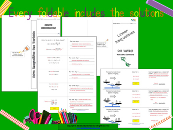 STAAR Practice-Foldable and Skills Algebra I, Category 3, TEKS A.5(B)