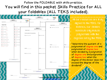 STAAR Practice-Foldables and Skills Algebra I, All New TEKS and Categories