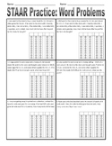 STAAR Practice - One- and Two-Step Problems