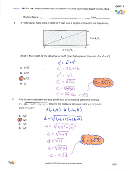 STAAR-Practice Quiz, Category 1, TEKS A.11(A)