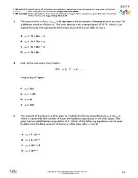 STAAR-Practice Quiz, Category 1, TEKS A.12(C) & A.12(D)