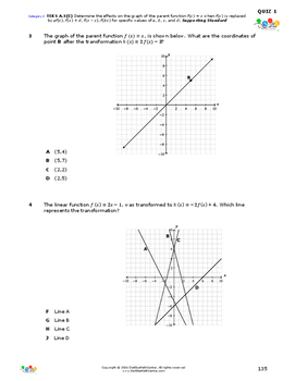 STAAR-Practice Quiz, Category 2, TEKS A.3(E)