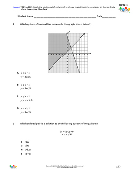 STAAR-Practice Quiz, Category 2, TEKS A.3(H)