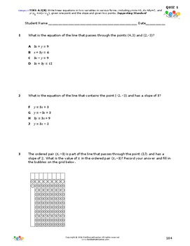 STAAR-Practice Quiz, Category 3, TEKS A.2(B)