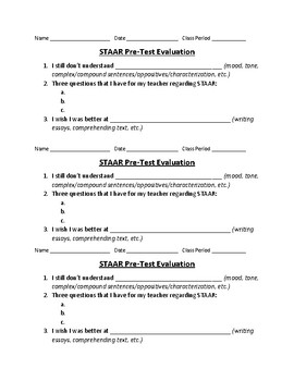 STAAR Pre-Test Evaluation